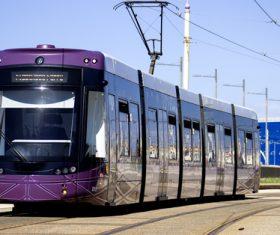 Advanced city tram Stock Photo 07