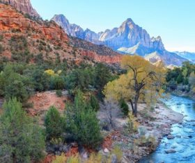 American Zion National Park scenery Stock Photo 07