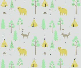 Animal plant cover pattern vector