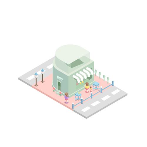 Architectural small scene elements vector