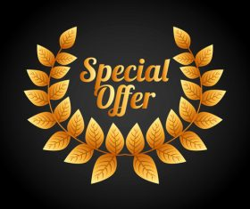 Autumn special offer with black background vector
