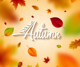 Beautiful autumn background art vector 01