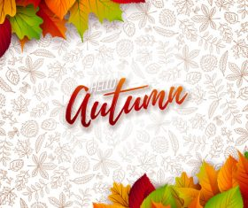 Beautiful autumn background art vector 04
