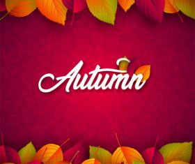 Beautiful autumn background art vector 05