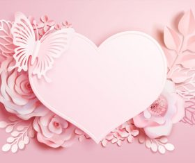 Beautiful flower card template vector 01