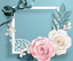 Beautiful flower card template vector 03