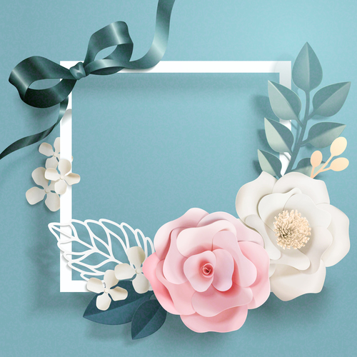 beautiful flower card template vector 03 free download