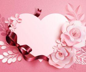Beautiful flower card template vector 04