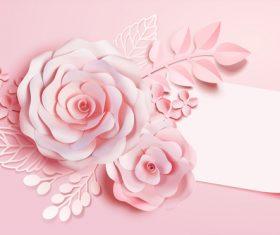 Beautiful flower card template vector 05