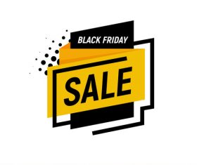 Black Friday sale shopping vector labels 01