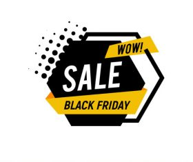 Black Friday sale shopping vector labels 02