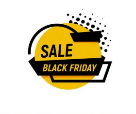 Black Friday sale shopping vector labels 03
