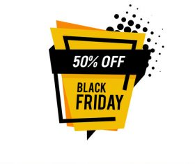 Black Friday sale shopping vector labels 04