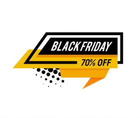 Black Friday sale shopping vector labels 05