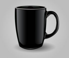 Black coffee cup template vector