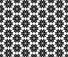 Black with white seamless pattern vector material