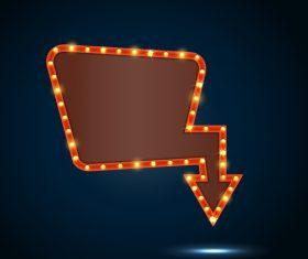 Blank neon billboard frame vectors 03