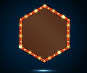 Blank neon billboard frame vectors 05