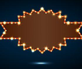 Blank neon billboard frame vectors 07