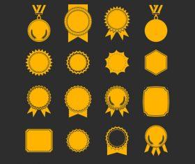 Blink golden badge vector material