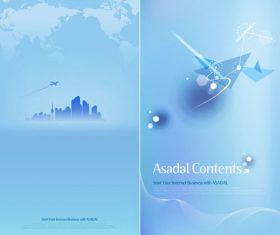 Blue corporate leaflet vector