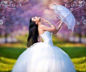 Bride wedding personal photo Stock Photo