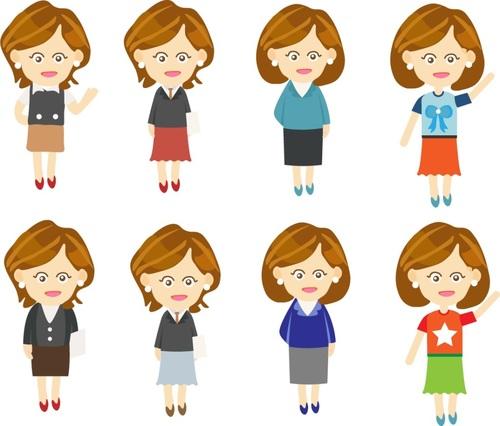 Business cartoon woman vector