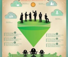 Business finance infographic picture vector