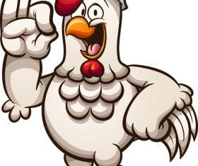 Cartoon chicken chef vector illustration