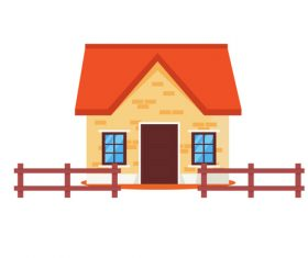 Cartoon colorful rural house vector
