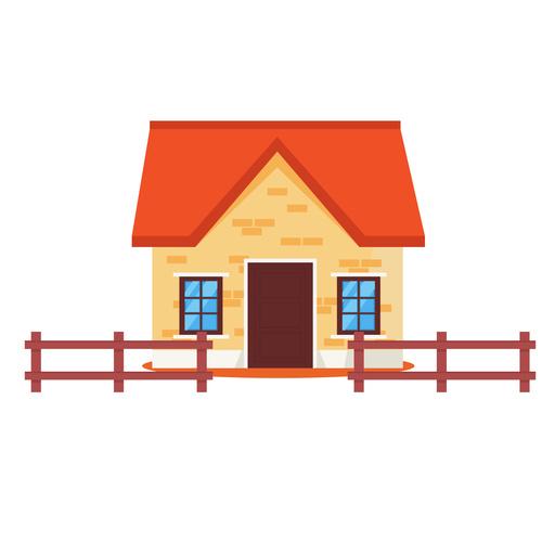 Cartoon colorful rural house vector