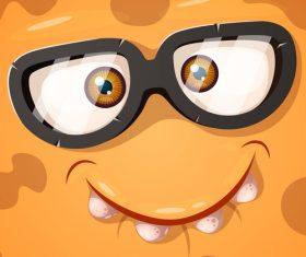 Cartoon monster face background vector 02