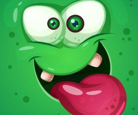 Cartoon monster face background vector 06