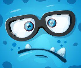 Cartoon monster face background vector 09