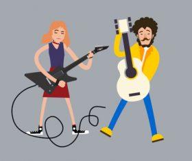 Cartoon music performance vector