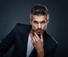 Charming handsome man Stock Photo