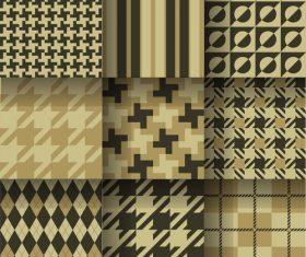 Checkered seamless pattern design vectors set 14