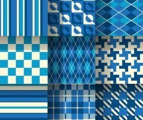 Checkered seamless pattern design vectors set 15