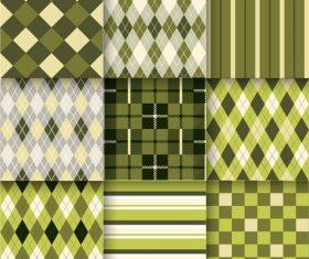 Checkered seamless pattern design vectors set 16