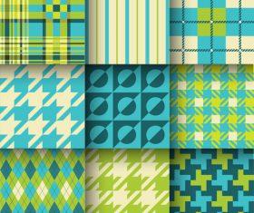 Checkered seamless pattern design vectors set 17