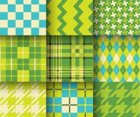 Checkered seamless pattern design vectors set 18