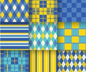 Checkered seamless pattern design vectors set 19
