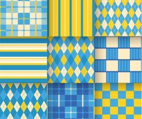 Checkered seamless pattern design vectors set 20