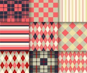 Checkered seamless pattern design vectors set 21