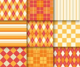 Checkered seamless pattern design vectors set 22