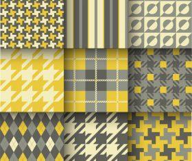 Checkered seamless pattern design vectors set 23