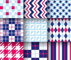 Checkered seamless pattern design vectors set 25