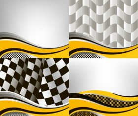 Checkered with abstract background vector 01