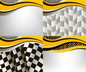 Checkered with abstract background vector 02