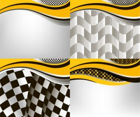 Checkered with abstract background vector 03